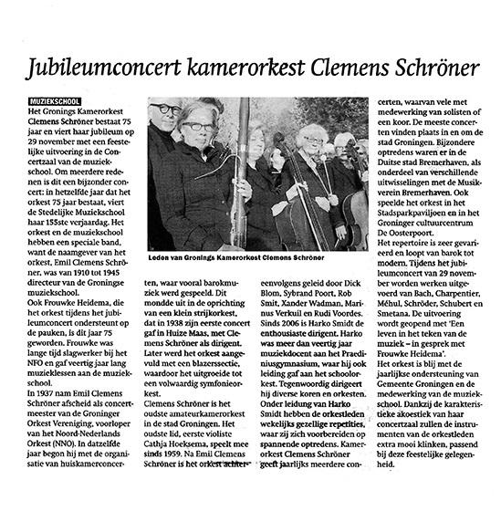 krantenartikel19november2013orkest